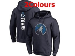 Mens Nba Minnesota Timberwolves #32 Karl-anthony Towns Hoodie Jersey With Pocket 3 Colors