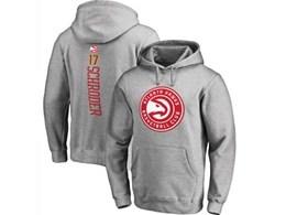 Mens Nba Atlanta Hawks #17 Schroder Gray Hoodie Jersey With Pocket