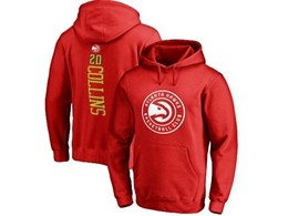 Mens Nba Atlanta Hawks #20 Collins Red Hoodie Jersey With Pocket