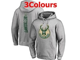 Mens Nba Milwaukee Bucks #34 Giannis Antetokounmpo Hoodie Jersey With Pocket 3 Colors
