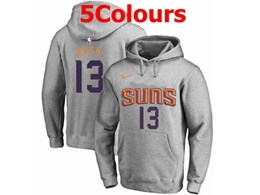 Mens Nba Phoenix Suns #13 Steve Nash Hoodie Jersey With Pocket 5 Colors
