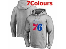 Mens Nba Philadelphia 76ers Blank Hoodie Jersey With Pocket 7 Colors