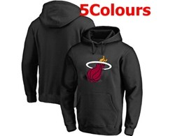 Mens Nba Miami Heat Blank Hoodie Jersey With Pocket 5 Colors