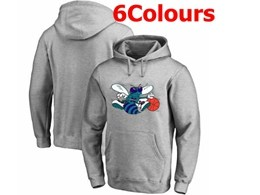 Mens Nba Charlotte Hornets Blank Hoodie Jersey With Pocket 6 Colors