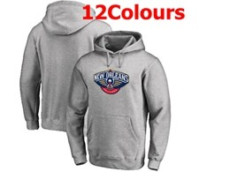 Mens Nba New Orleans Pelicans Blank Hoodie Jersey With Pocket 12 Colors