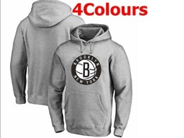 Mens Nba Brooklyn Nets Blank Hoodie Jersey With Pocket 4 Colors