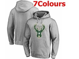 Mens Nba Milwaukee Bucks Blank Hoodie Jersey With Pocket 7 Colors