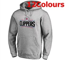Mens Nba Los Angeles Clippers Blank Hoodie Jersey With Pocket 12 Colors