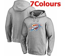 Mens Nba Oklahoma City Thunder Blank Hoodie Jersey With Pocket 7 Colors