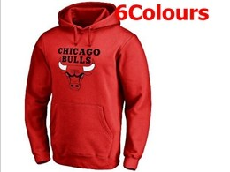 Mens Nba Chicago Bulls Blank Hoodie Jersey With Pocket 6 Colors