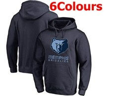 Mens Nba Memphis Grizzlies Blank Hoodie Jersey With Pocket 6 Colors