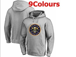 Mens Nba Denver Nuggets Blank Hoodie Jersey With Pocket 9 Colors