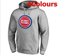 Mens Nba Detroit Pistons Blank Hoodie Jersey With Pocket 4 Colors