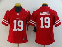 Women Nfl San Francisco 49ers #19 Deebo Samuel Red Vapor Untouchable Limited Jersey