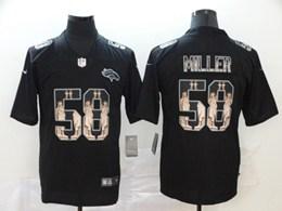 Mens Nfl Denver Broncos #58 Von Miller Black Statue Of Liberty Vapor Untouchable Limited Jersey