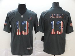 Mens Miami Dolphins #13 Dan Marino  Black Pays Tribute To Retro Flag Carbon Nike Limited Jerseys