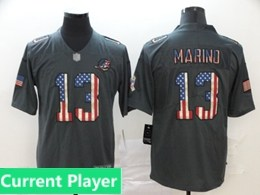 Mens Miami Dolphins Current Player Black Pays Tribute To Retro Flag Carbon Nike Limited Jerseys