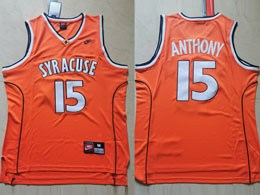Mens Ncaa Nba Syracuse #15 Anthony Orange Nike Jersey