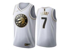 Mens 2019-20 Nba Toronto Raptors #7 Kyle Lowry White Gold Nike Swingman Jersey
