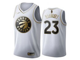 Mens 2019-20 Nba Toronto Raptors #23 Fred Vanvleet White Gold Nike Swingman Jersey