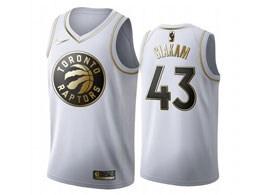 Mens 2019-20 Nba Toronto Raptors #43 Pascal Siakam White Gold Nike Swingman Jersey