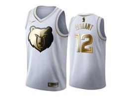 Mens Nba Memphis Grizzlies #12 Ja Morant White Gold Nike Swingman Jersey