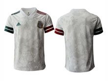 Mens 20-21 Soccer Mexico National Team ( Custom Made ) Gray Away Thailand Jersey