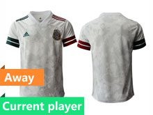 Mens 20-21 Soccer Mexico National Team Current Player Gray Away Thailand Jersey
