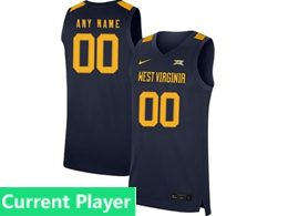 Mens Ncaa Nba 2019 West Virginia Mountaineers Current Player Blue Nike Jersey