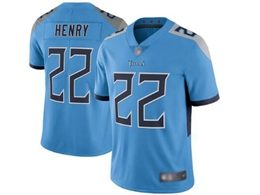 Mens Women Youth Nfl Tennessee Titans #22 Derrick Henry Light Blue New Vapor Untouchable Limited Player Jersey