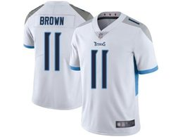 Mens Women Youth Nfl Tennessee Titans #11 Aj Brown White New Vapor Untouchable Limited Player Jersey