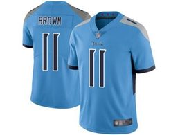 Mens Women Youth Nfl Tennessee Titans #11 Aj Brown Light Blue New Vapor Untouchable Limited Player Jersey