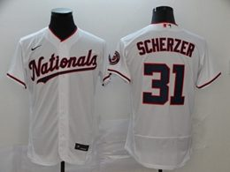 Mens Mlb Washington Nationals #31 Max Scherzer White Flex Base Nike Jersey