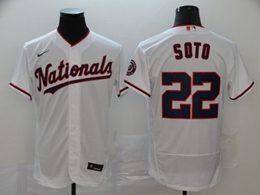 Mens Mlb Washington Nationals #22 Juan Soto White Flex Base Nike Jersey