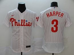 Mens Mlb Philadelphia Phillies Phillies #3 Bryce Harper White Flex Base Nike Jersey