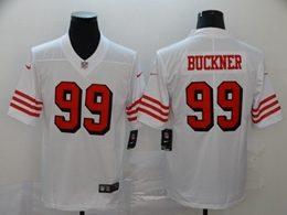 Mens Nfl San Francisco 49ers #99 Deforest Buckner White New Vapor Untouchable Limited Jersey