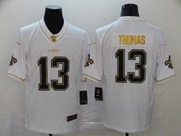 Mens Nfl New Orleans Saints #13 Michael Thomas White Golden 100th Vapor Untouchable Limited Jersey