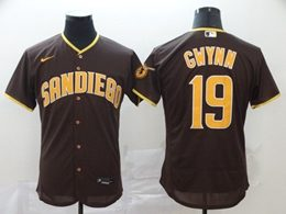 Mens Mlb San Diego Padres #19 Tony Gwynn Brown Flex Base Nike Jersey