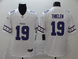 Mens Nfl Minnesota Vikings #19 Adam Thielen White Team Logo Cool Edition Vapor Untouchable Limited Jerseys