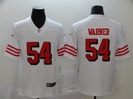 Mens Nfl San Francisco 49ers #54 Fred Warner New White Vapor Untouchable Limited Jersey