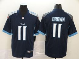 Mens Women Youth Nfl Tennessee Titans #11 Aj Brown Navy Blue New Vapor Untouchable Limited Player Jersey