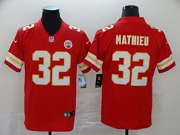 Mens Women Youth Nfl Kansas City Chiefs #32 Tyrann Mathieu Red Vapor Untouchable Limited Jersey