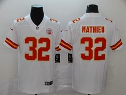 Mens Women Youth Nfl Kansas City Chiefs #32 Tyrann Mathieu White Vapor Untouchable Limited Jersey
