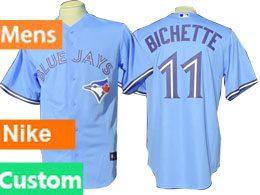 Mens Mlb Toronto Blue Jays Custom Made Light Blue 2020 Nike Jersey