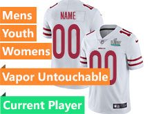 Mens Women Youth Nfl San Francisco 49ers 2020 Super Bowl Liv White Current Player Vapor Untouchable Limited Jersey