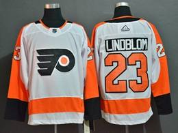 Mens Nhl Philadelphia Flyers #23 Oskar Lindblom White Adidas Jersey