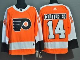 Mens Nhl Philadelphia Flyers #14 Sean Couturier Orange Adidas Jersey