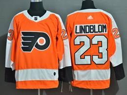 Mens Nhl Philadelphia Flyers #23 Oskar Lindblom Orange Adidas Jersey
