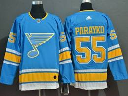 Mens Nhl St.louis Blues #55 Colton Parayko Light Blue Adidas Jersey