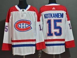 Mens Nhl Montreal Canadiens #15 Jesperi Kotkaniemi White Adidas Jersey
